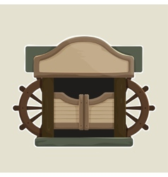 Cartoon styled old western swinging saloon doors vector