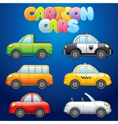Cartoon automobiles vector