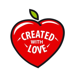 Logo heart in the form of fruit vector