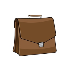 Brown brief case icon vector