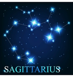 The sagittarius zodiac sign of the beautiful vector