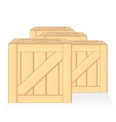 Wood box isolated vector