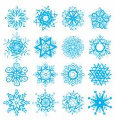 Snow-flakes vector