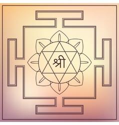 Yantra goddess lakshmi vector