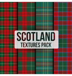 Set of tartan fabric texture pattern seamless vector