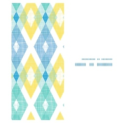 Colorful fabric ikat diamond vertical frame vector