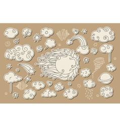 Sky doodle vector