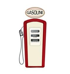 Vintage fuel pump vector