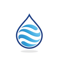 Water drop wave abstract logo vector