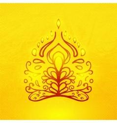 Abstract doodle buddha vector
