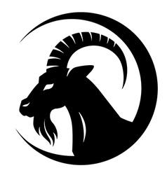 Goat symbol vector