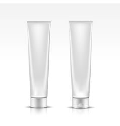 Tube for cosmetic package isolated on white vector