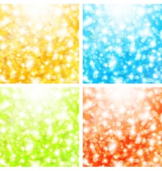 Holiday background set vector
