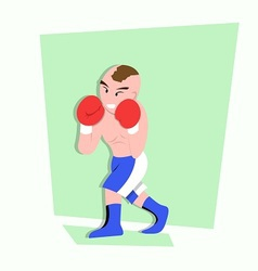 Funny little kids do some boxing style vector
