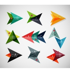 Set of arrow infographic templates vector