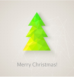 Retro christmas tree made of triangles vector