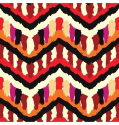 Painted ethnic pattern vector