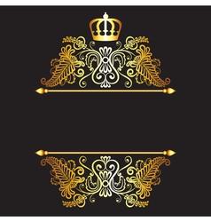 Black baground with royal frame vector