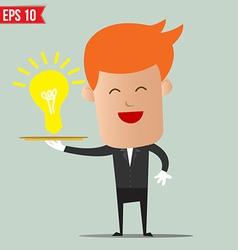 Waiter idea service - - eps10 vector