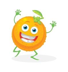 Cute orange on a white background character vector
