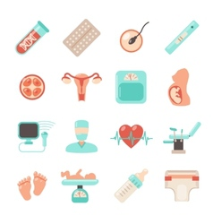Pregnancy newborn icons vector