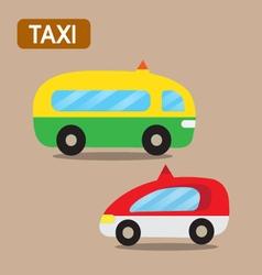 Taxi cartoon design vector