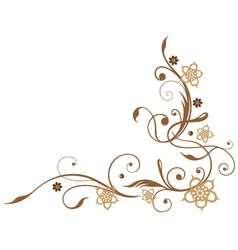 Flowers brown vector