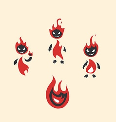 Fiery monsters vector