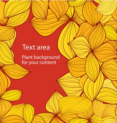 Autumn background with copyspace vector