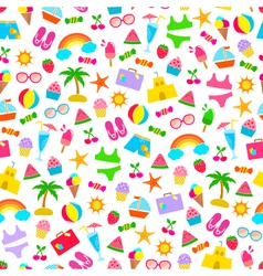 Summer pattern vector