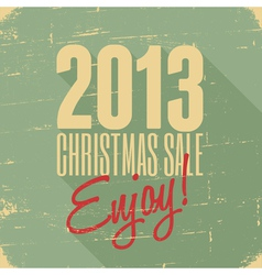 Christmas sale 2013 retro style poster design vector