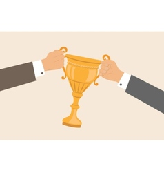 Business hands pulling cup vector
