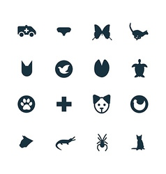 Set of animals pets icons vector