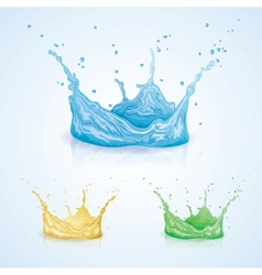 Color water splash vector