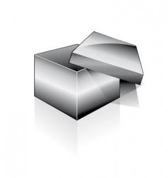 3d open box vector