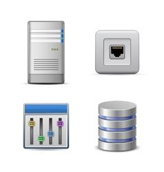 Server hosting icon vector