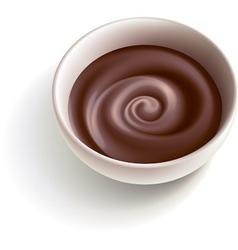 Dark molten chocolate vector