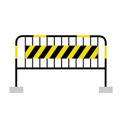 Black and yellow barrier vector