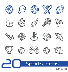 Sport icons outline series vector