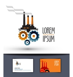 Industry logo design template factory or work icon vector