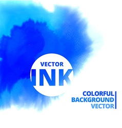 Water ink splash burst in blue color vector