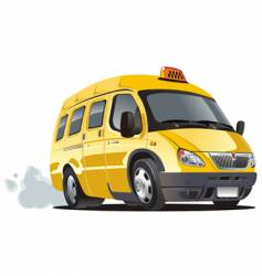 Cartoon taxi bus vector