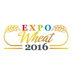 Wheat logo abstract market plant product design vector