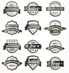Premium quality sales free labels with retro vector