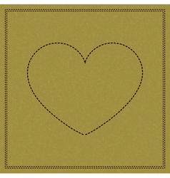 Heart on weave vector