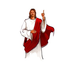 Portrait of jesus christ standing vector