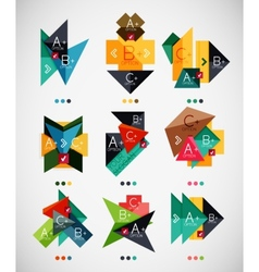 Geometrical shaped infographic option banners vector