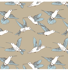 Humming bird pattern vector