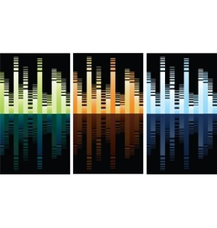 Multicolored equalizer on black vector