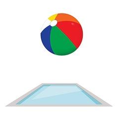 Swimming pool and ball vector